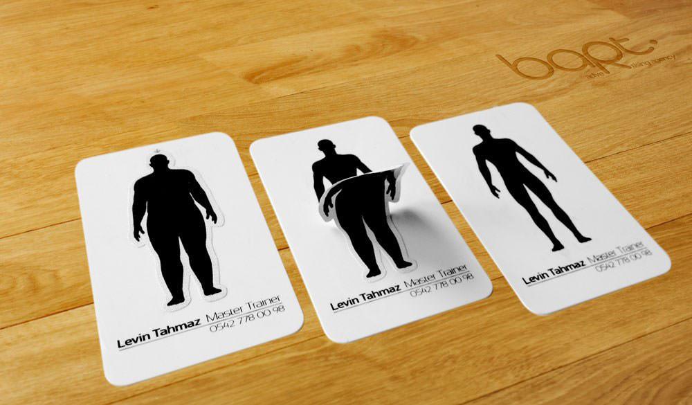 Необычная визитка фитнес тренера
